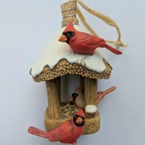 "Hallmark ""Cardinal bird feeder"" #4 ornament 2006"